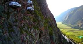 'Lều nghỉ dưỡng' giữa trời, cheo leo trên vách núi