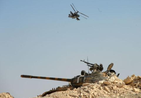 Trực thăng Ka-52 tấn công khủng bố tại Syria.