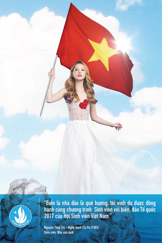 Diễn viên - hot girl Chi Pu hướng về biển đảo Tổ quốc