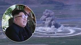 Ông Kim Jong Un tươi như hoa xem chiến cơ ném bom bách phát bách trúng
