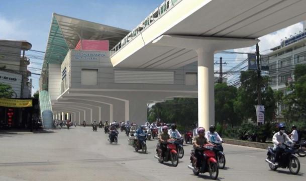 Phoi canh 12 ga tuyen metro dau tien o Ha Noi hinh anh 8