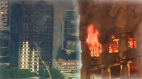 Hiện trường đáng kinh ngạc của tòa tháp ở London sau hỏa hoạn