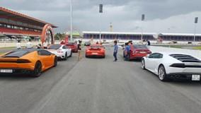 """Cường """"Đô-la"""" cùng dàn siêu xe đại gia Sài thành đua xe tại Bình Dương"""