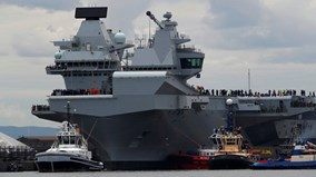 Cận cảnh tàu sân bay uy lực nhất của hải quân Anh