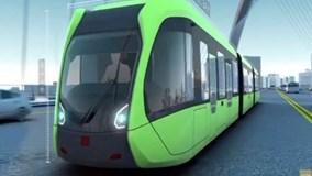 Tàu hỏa chạy bằng đường ray ảo ở Trung Quốc