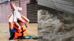 Muôn cảnh cứu người giữa dòng lũ tại Trung Quốc