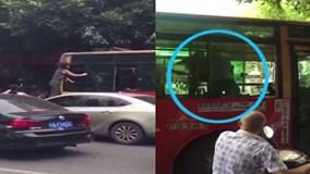 Va chạm giao thông, 'nữ quái' trèo qua cửa sổ xe buýt đánh nhau với tài xế