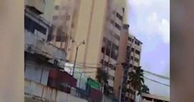 Nhảy từ đỉnh tòa nhà 9 tầng đang cháy để tự cứu mình