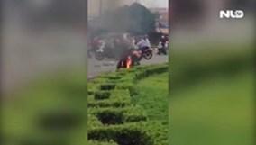 Thanh niên ngáo đá, đổ xăng châm lửa tự thiêu
