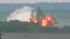 Lộ video máy bay quân sự Nga nổ tung thành cầu lửa