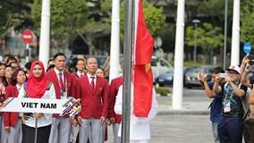 Cờ Việt Nam tung bay tại SEA Games 29