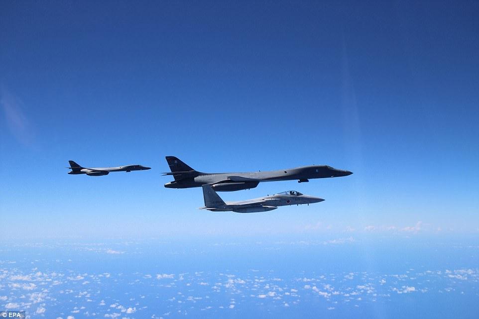 máy bay ném bom, B1-B, oanh tạc cơ, Triều Tiên