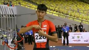 Cái kết buồn của VĐV Singapore vuốt tóc, thả tim trước giờ thi đấu