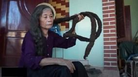 Cụ bà có mái tóc dài gần 3 m ở xứ Thanh