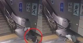 'Bẫy tử thần' nuốt chửng một phụ nữ ở ga tàu điện ngầm