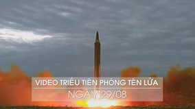 Triều Tiên tung video vụ phóng tên lửa mới nhất bay qua Nhật Bản