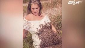 Vì bức ảnh đẹp, bà bầu cho 20.000 con ong bu kín bụng