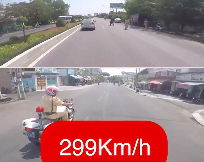 "biker khai ly do tung clip phong xe ""299km/h"", khieu khich csgt hinh anh 1"