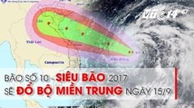 Họp khẩn ứng phó bão số 10 mạnh nhất từ đầu mùa đến nay