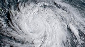 Vòng xoáy tử thần của siêu bão Maria nhìn từ vũ trụ