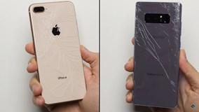 Galaxy Note 8 hạ đo ván iPhone 8 Plus trong màn thả rơi