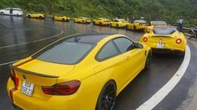 Dàn siêu xe trăm tỷ vượt Đèo Hải Vân trong cơn mưa lớn