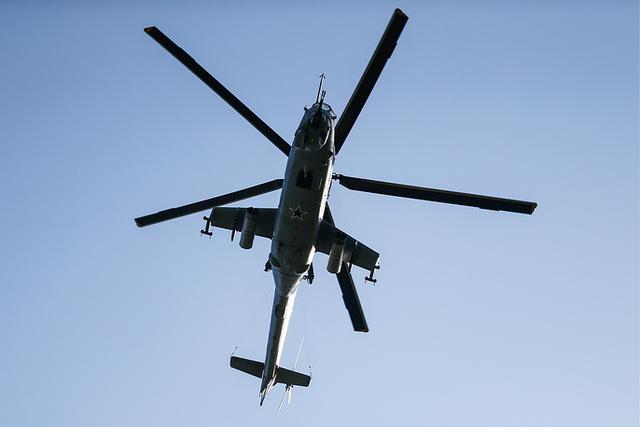 Trong phần đầu của cuộc tập trận, các trực thăng tấn công Mi-24 sẽ tấn công kẻ thù mô phỏng, đồng thời xóa sổ các mục tiêu trên mặt đất bằng pháo tự động và tên lửa.