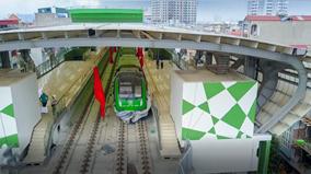Cận cảnh các đoàn tàu được lắp đặt lên ray đường sắt Cát Linh - Hà Đông