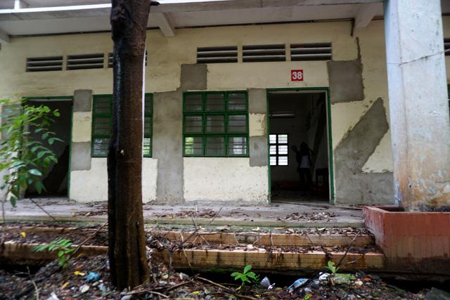 Sau khi bị bỏ hoang, trường biến thành nơi ở cho người lang thang.