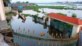 Khu vực sạt lở ven sông Sài Gòn nhìn từ toàn cảnh