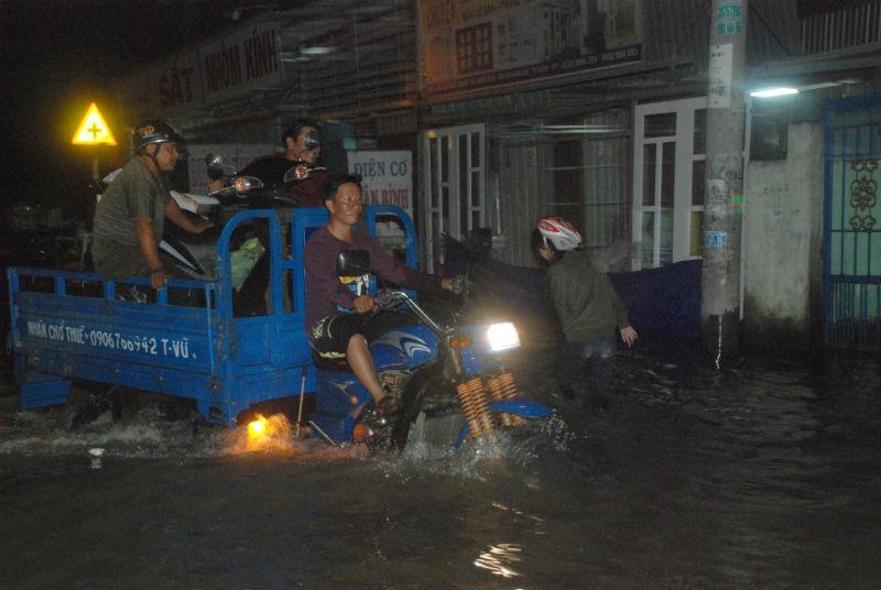 Triều cường, ngập, Sài Gòn, kẹt xe