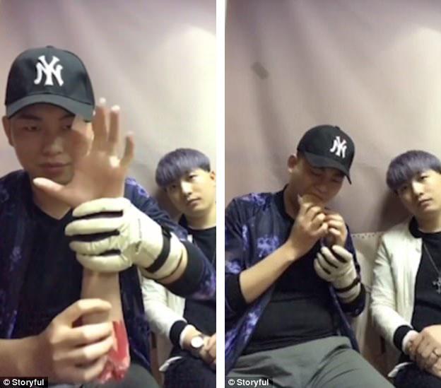 """Một nhân vật nổi tiếng trên mạng xã hội Trung Quốc với biệt danh A Gan (trái) hiện đang gây sốt với đoạn clip """"bóc mẽ"""" chiêu trò ảo thuật được thực hiện khá hài hước."""