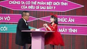 """Mặt trời bé con: Cô bé 7 tuổi được MC Lại Văn Sâm khen là """"biết tuốt'"""