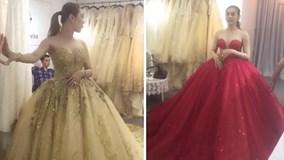 Lâm Khánh Chi thử váy cưới đẹp lung linh 'đốn tim' fan