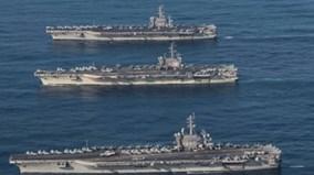 3 tàu sân bay Mỹ đồng loạt phô diễn sức mạnh gần Triều Tiên