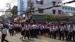 Cháy trường học, hàng trăm học sinh hoảng loạn
