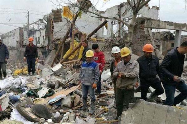 nổ lớn,Trung Quốc,sập nhà,thương vong lớn
