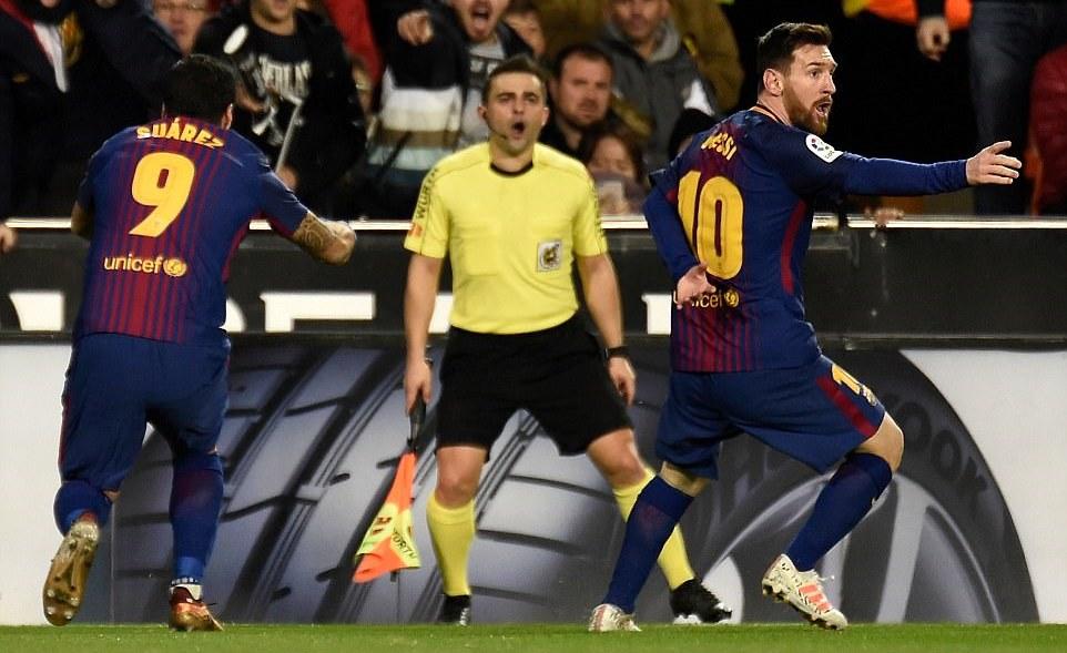 Barcelona,Valencia,Lionel Messi,La Liga,Bóng đá Tây Ban Nha,Kết quả bóng đá hôm nay