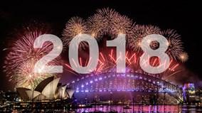 Những màn pháo hoa rực rỡ khắp thế giới chào đón năm mới 2018