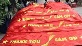 20.000 băng rôn cảm ơn chờ đội tuyển U23 chiến thắng