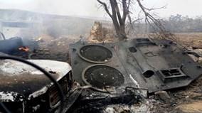 Xe tăng Leopard Thổ Nhĩ Kỳ tan tành sau khi trúng tên lửa