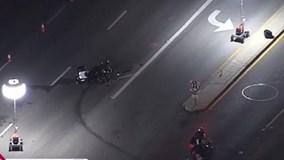 Mỹ: Hộ tống nguyên thủ, cảnh sát gặp tai nạn