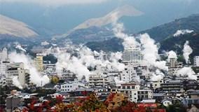 Thành phố bốc hơi ngùn ngụt suốt ngày ở Nhật