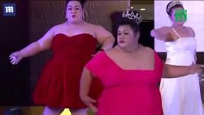 Cô gái 105 kg đăng quang hoa hậu ở Thái Lan