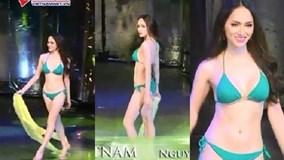 Hương Giang tự tin khoe body cực nóng bỏng trong phần thi bikini