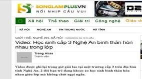 Gia đình nữ sinh tự tử xem xét khởi kiện trang điện tử Songlamplus.vn