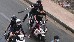 Hơn 30 người hỗn chiến bằng súng, mã tấu ở trung tâm Sài Gòn