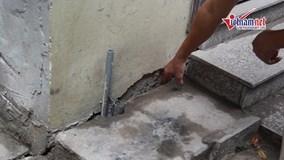 Hàng loạt nhà dân bị sụt lún cạnh chung cư vừa xây ở Hà Nội