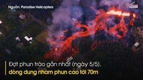Cận cảnh núi lửa phun trào, 'nhuộm đỏ' đảo thiên đường Hawaii