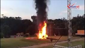 Máy bay chở cô dâu Brazil rơi, phát nổ ngay tại đám cưới